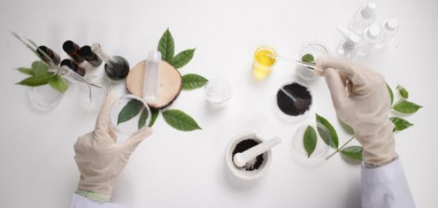 صورة صناعة مواد التجميل الطبيعية