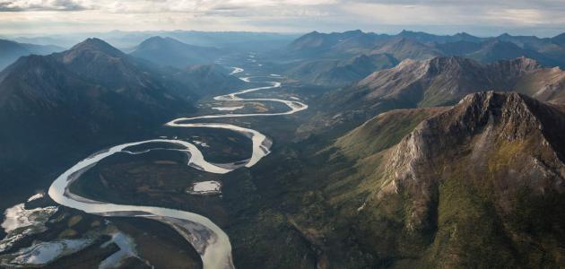صورة مراحل تطور النهر