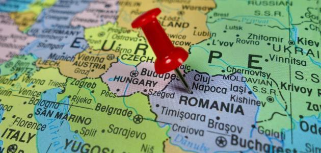 صورة أين تقع رومانيا