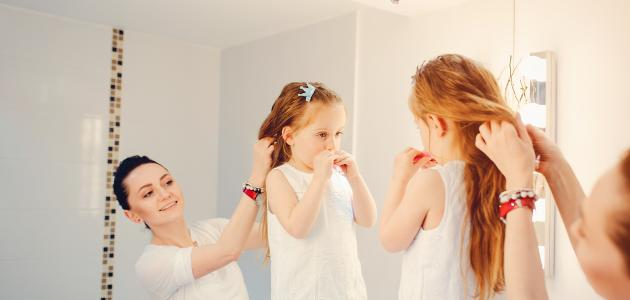 صورة كيفية التعامل مع شعر الأطفال