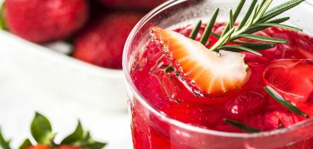صورة جديد طريقة عمل عصير الفراولة