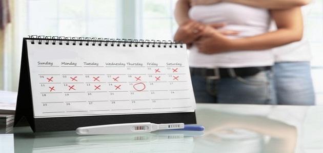 صورة جديد وقت عمل اختبار الحمل المنزلي المناسب