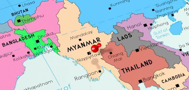صورة جديد أين تقع دولة بورما