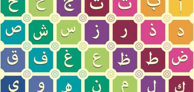 صورة جديد ترتيب الحروف الأبجدية العربية