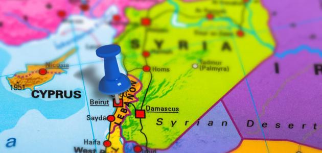 صورة جديد أين تقع لبنان
