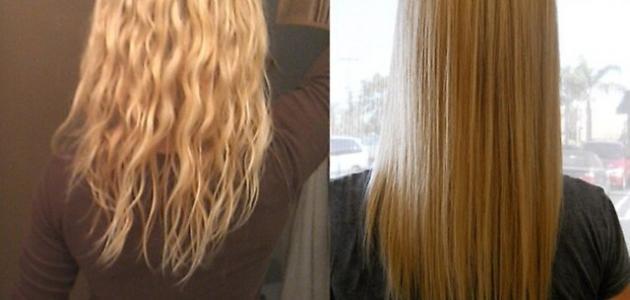 صورة جديد طرق تنعيم الشعر الخشن والجاف