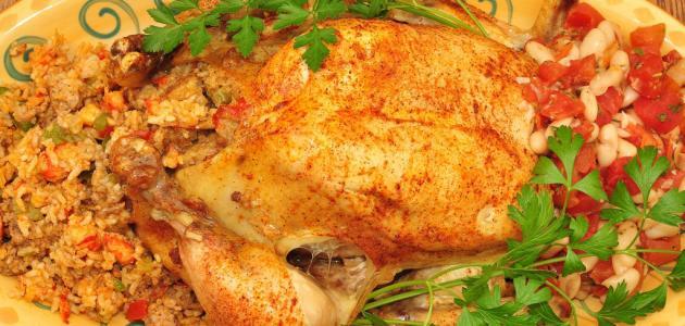 صورة جديد كيفية حشو الدجاج بالأرز