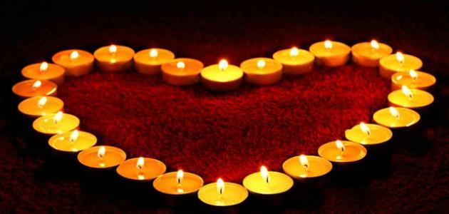 صورة جديد كلمات عن الشموع والحب