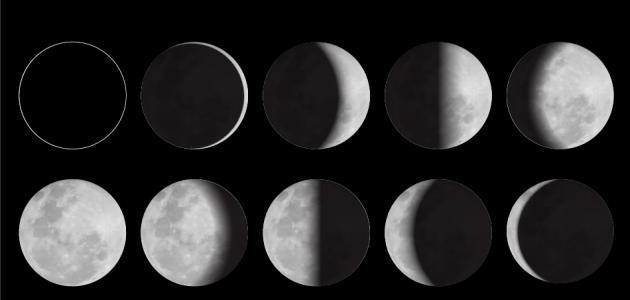 صورة جديد مراحل القمر بالترتيب