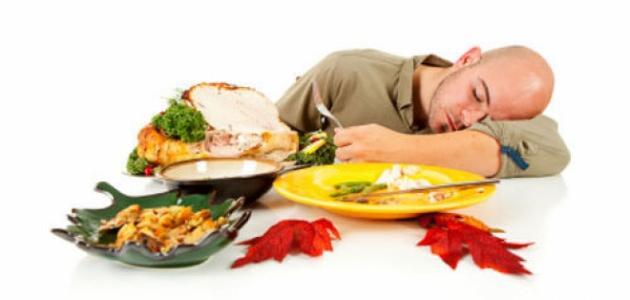 صورة جديد أسباب النعاس بعد الأكل