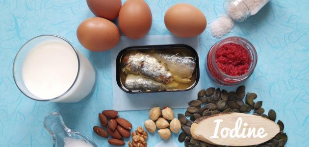 صورة جديد أين يوجد عنصر اليود في الطعام