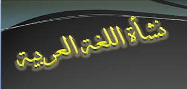 صورة جديد كيف نشأت اللغة العربية