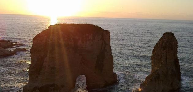 صورة جديد أين تقع صخرة الروشة