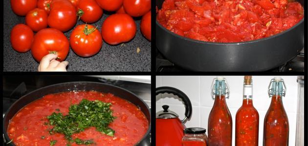 صورة جديد كيفية عمل صلصة الطماطم وتخزينها