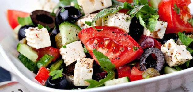 صورة جديد طريقة عمل سلطة يونانية بالجبن والزيتون