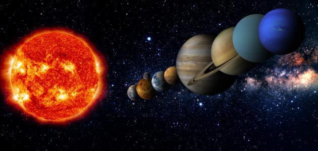 صورة جديد ترتيب الكواكب حسب حجمها وبعدها عن الشمس