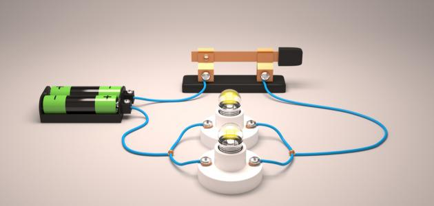 صورة مكونات الدائرة الكهربائية
