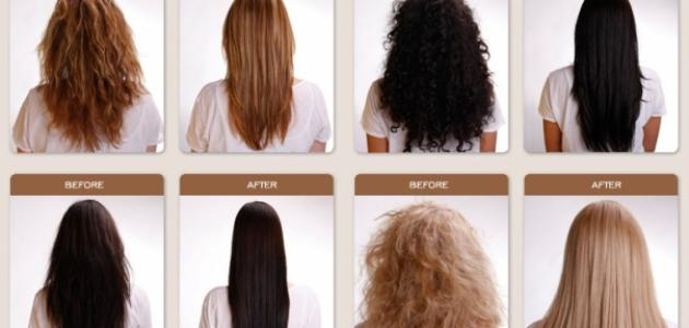 صورة كيفية تمليس الشعر المجعد
