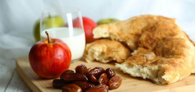 صورة نظام غذائي صحي في رمضان