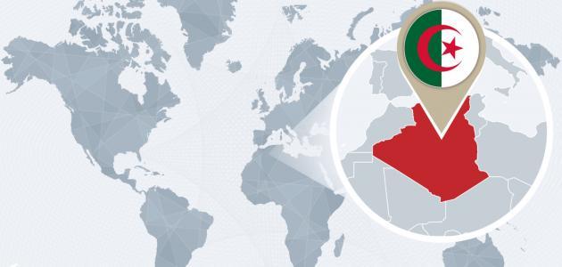 صورة أين تقع الجزائر