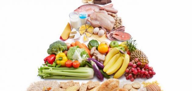 صورة أنواع الأغذية