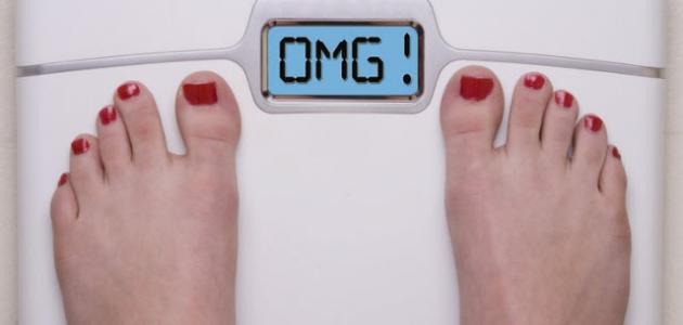 صورة زيادة الوزن المفاجئة