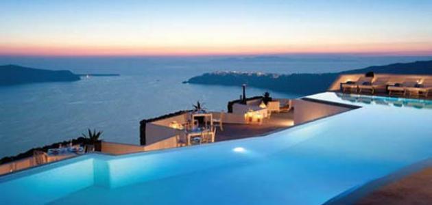 صورة جزيرة سانتوريني في اليونان