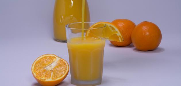 صورة طريقة تخزين عصير البرتقال
