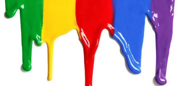 صورة صفات الألوان في اللغة العربية