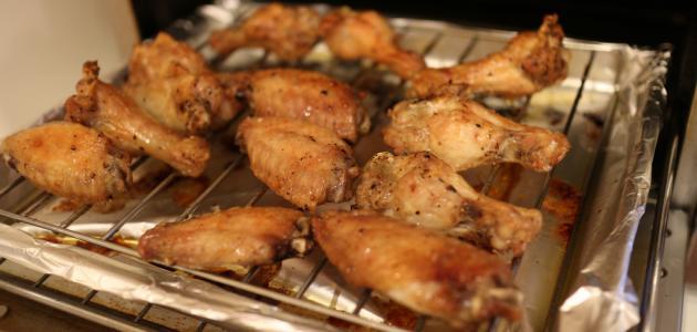 صورة أجنحة الدجاج بالفرن