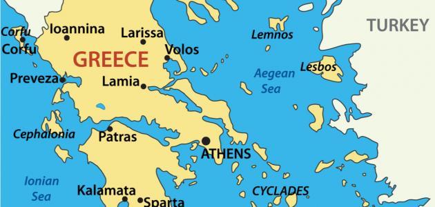 صورة جزر اليونان القريبة من تركيا