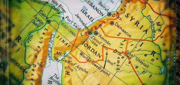 صورة ما هي حدود الأردن