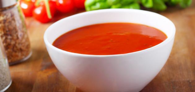 صورة طريقة عمل شوربة الطماطم بالكريمة
