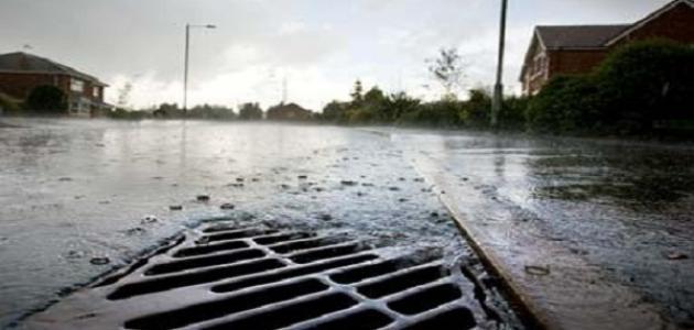 صورة كيفية تصريف مياه الأمطار