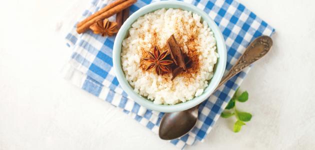 صورة كيفية تحضير الأرز بحليب