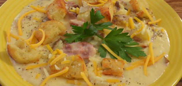 صورة كرات البطاطس بالدجاج والبشاميل