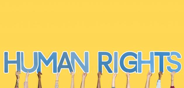 صورة إنشاء عن حقوق الإنسان