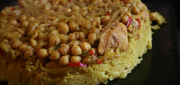 صورة طريقة عمل أرز القدرة الفلسطيني