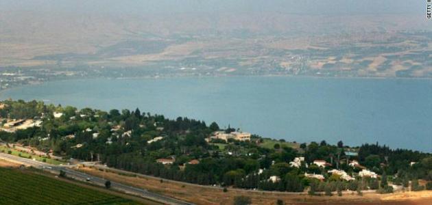 صورة بحيرة طبريا وموقعها