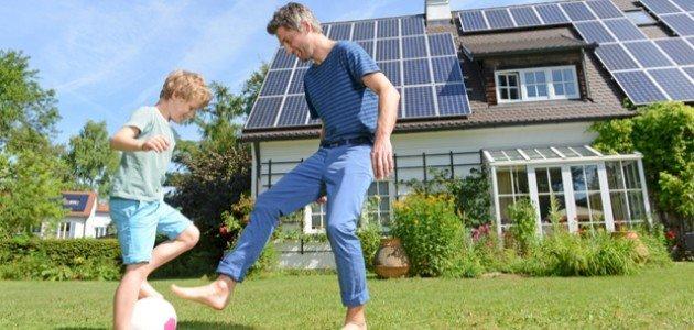 صورة استخدام الطاقة الشمسية في المنازل