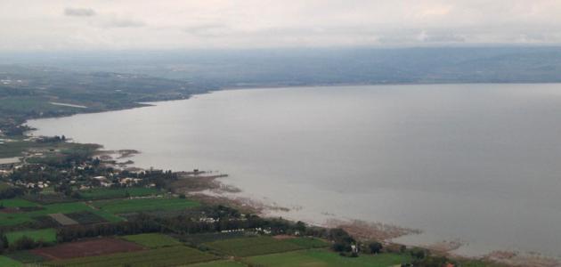 صورة أين تقع بحيرة طبريا على الخريطة