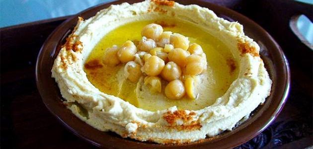 صورة طريقة عمل الحمص بطحينة اللبناني