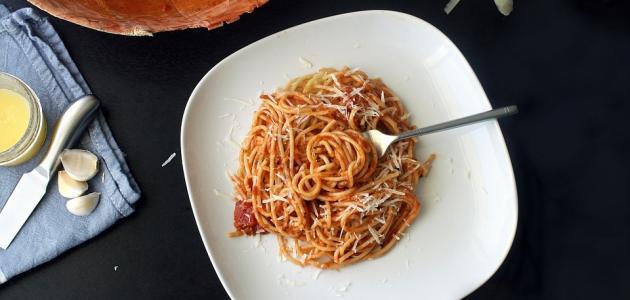 صورة طريقة عمل سباغيتي بالطماطم