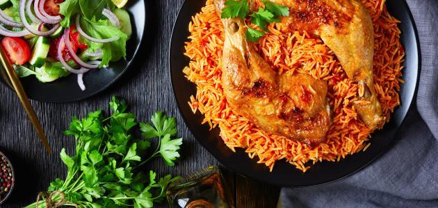 صورة أنواع طبخات الأرز بالدجاج