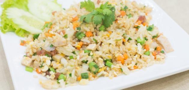 صورة طريقة عمل أرز صيني بالبيض