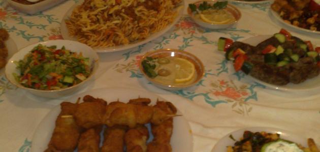 صورة أنواع أكلات رمضان