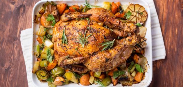 صورة طريقة عمل الدجاج المحشي بالخضار
