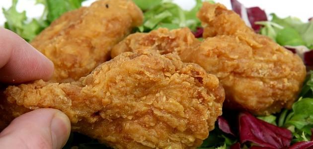 صورة كيفية تحضير الدجاج المقلي