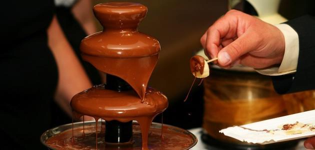 صورة طريقة عمل صوص نافورة الشوكولاته