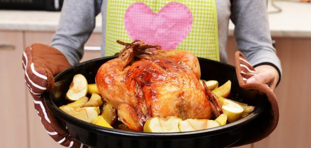 صورة طريقة نقع الدجاج بالخل